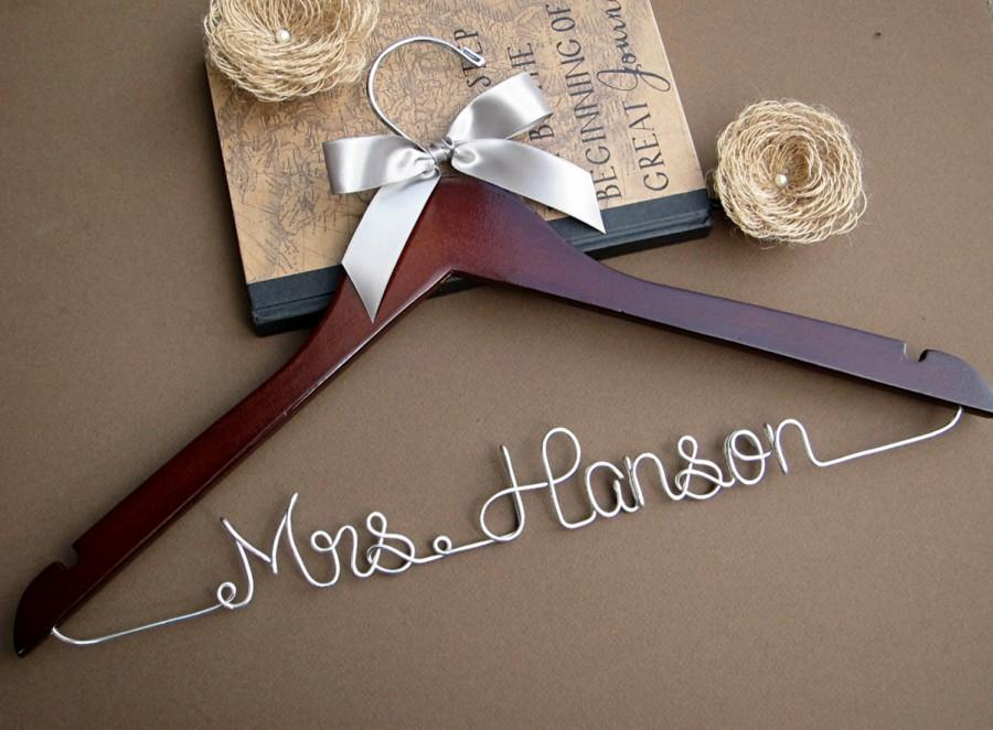 Bridal Hanger Wedding Custom Bridesmaid Gift Shower Ribbon Color Of Your Choice