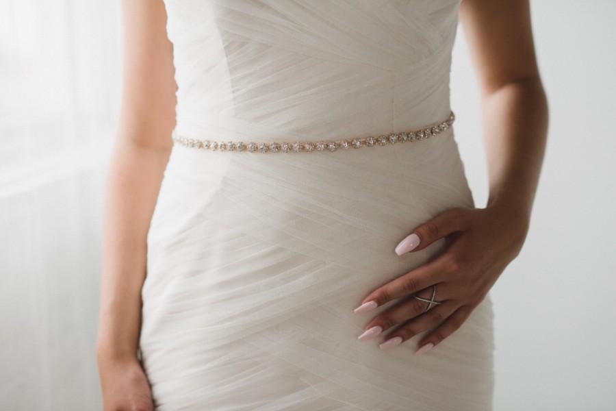 Mariage - Rose Gold Bridal Belt