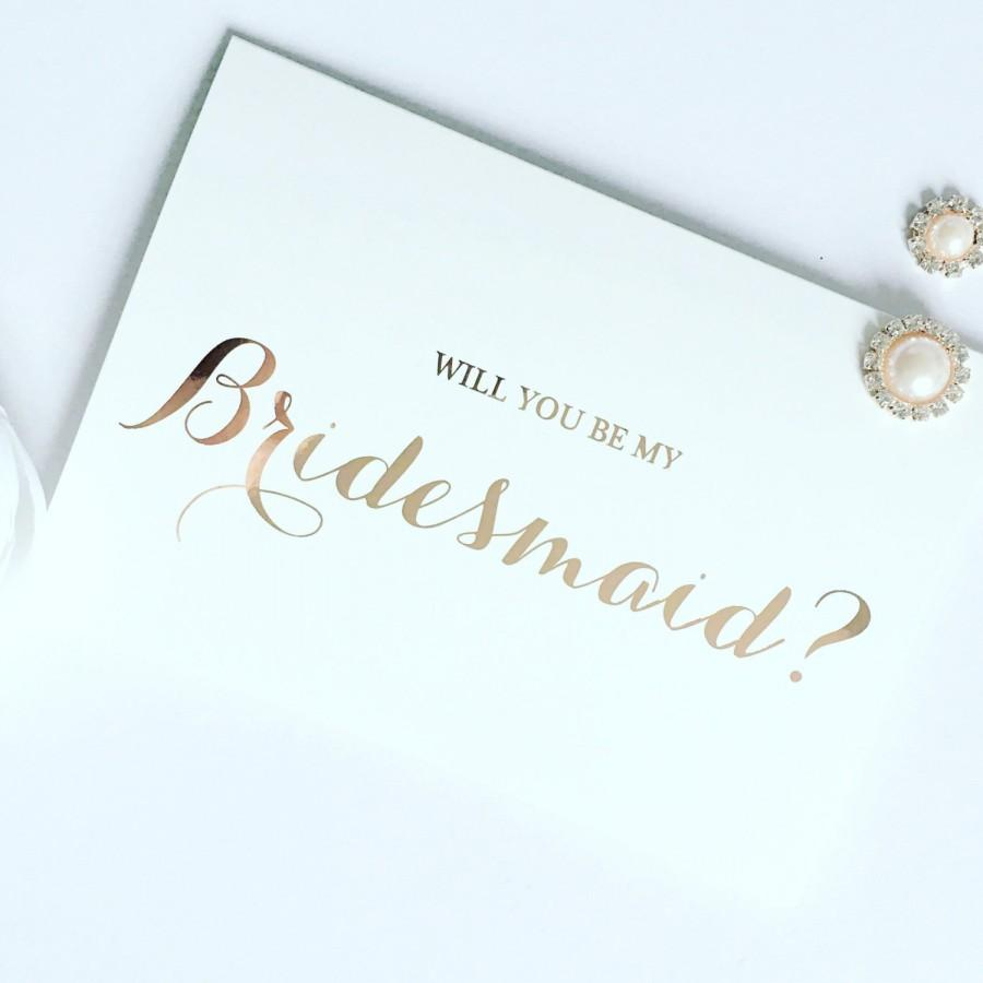 Wedding - Rose Gold Foil Effect Will You Be.......Cards