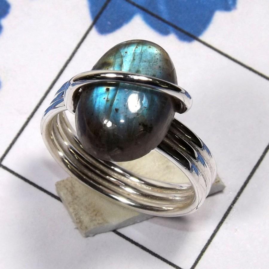 Mariage - Labradorite Ring, Labradorite Stone Ring, Labradorite Jewellery, 925 Silver Ring, Designer Ring, Wedding Ring, Unique Ring, Gift For Her