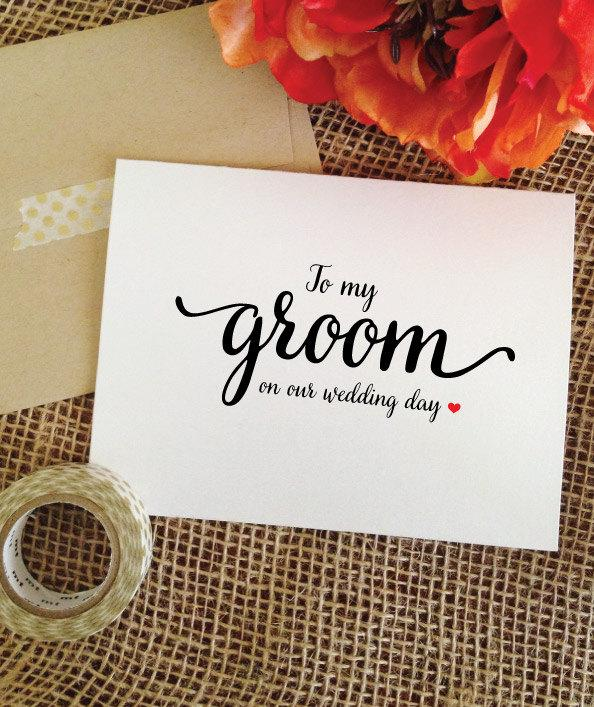 Mariage - Card for groom to my groom on our wedding day ( Lovely )