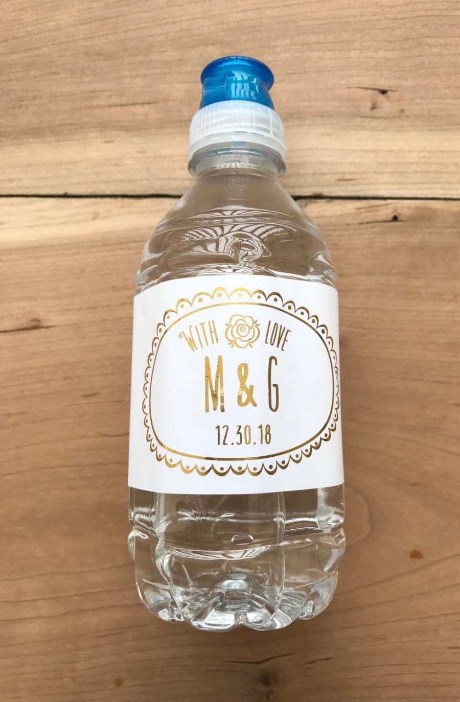 b0bcb1a5eb07 Gold Foil Waterproof Water Bottle Labels - Silver Foil Metallic ...