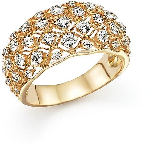 Wedding - Diamond Band Ring in 14K Yellow Gold, 1.0 ct. t.w.