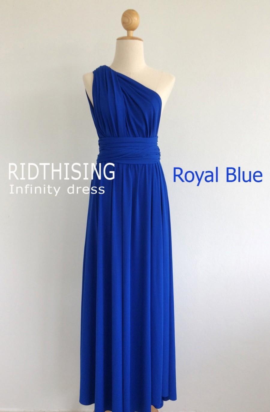 Wedding - Maxi Royal Blue Bridesmaid Dress infinity Dress Prom Dress Convertible Dress Wrap Dress