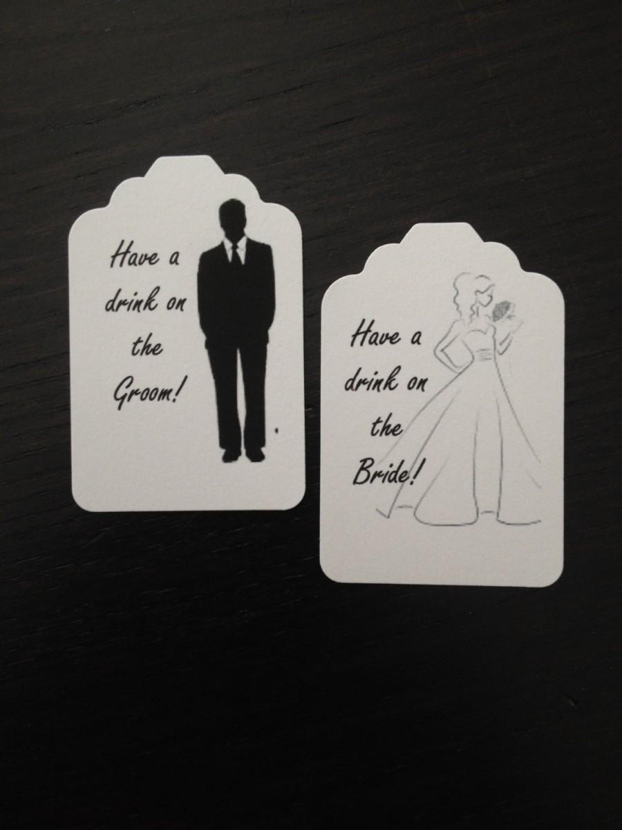 Mariage - Wedding  Drink or Beverage Ticket - Wedding Reception