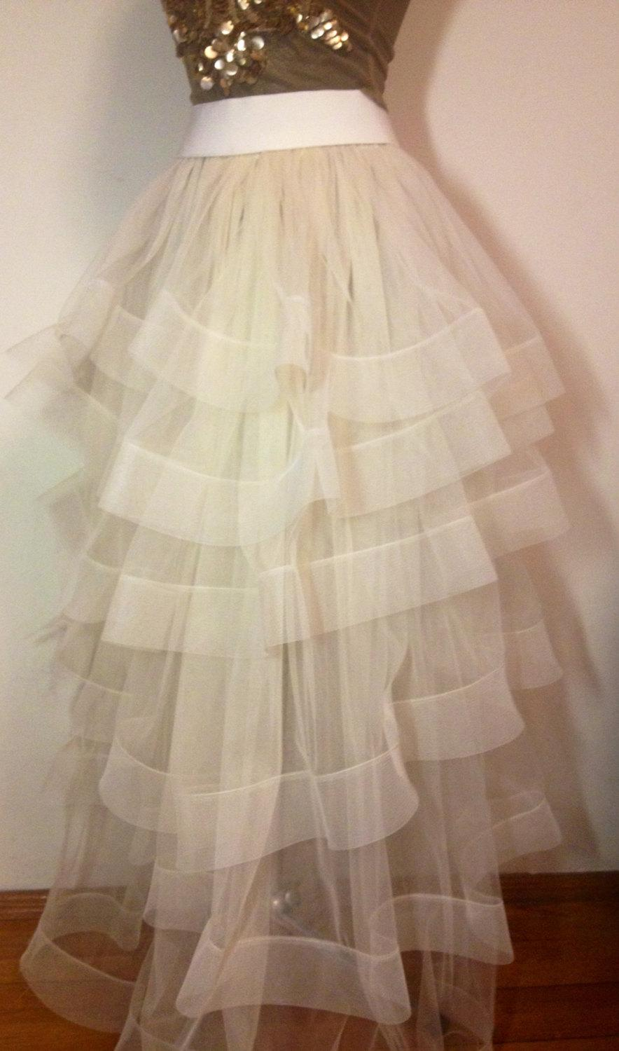 زفاف - Tulle wedding skirt, tulle overskirt, wedding skirt,  detachable wedding skirt, detachable tulle skirt, wedding dress.