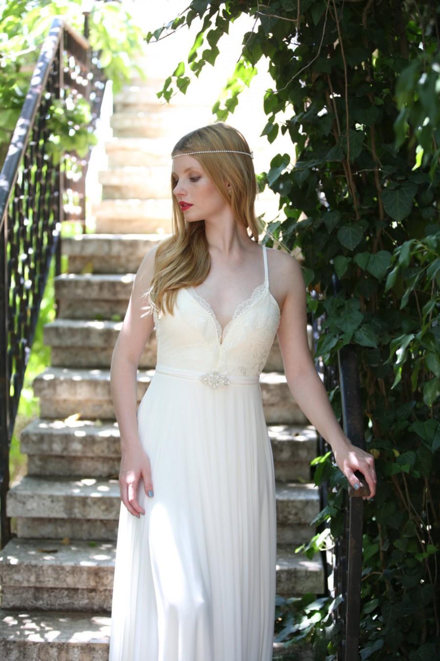 Wedding - Josephine - Boho wedding dress, lace wedding dress, beach wedding dress