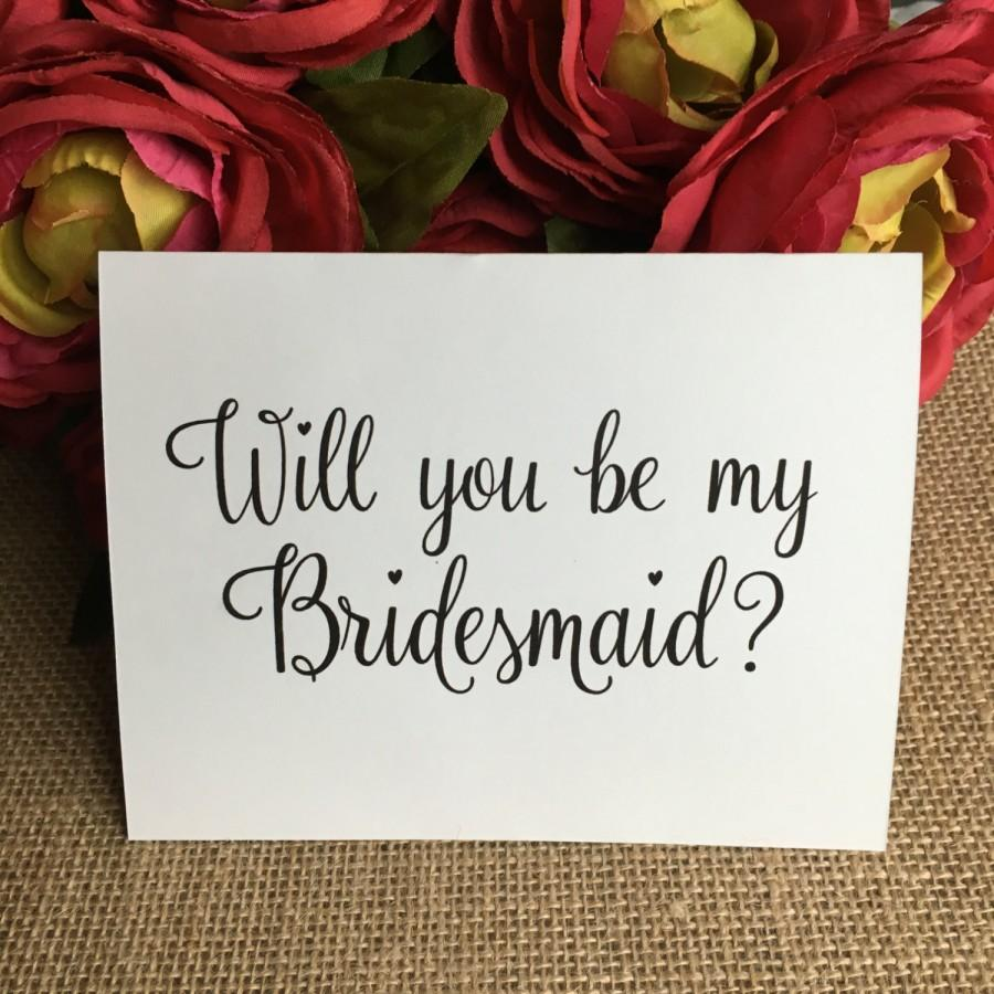 Hochzeit - Will You Be My Bridesmaid, Will you be my Maid of Honor, and Matron of Honor Cards, Bridal Party, Wedding, Bridesmaids Card