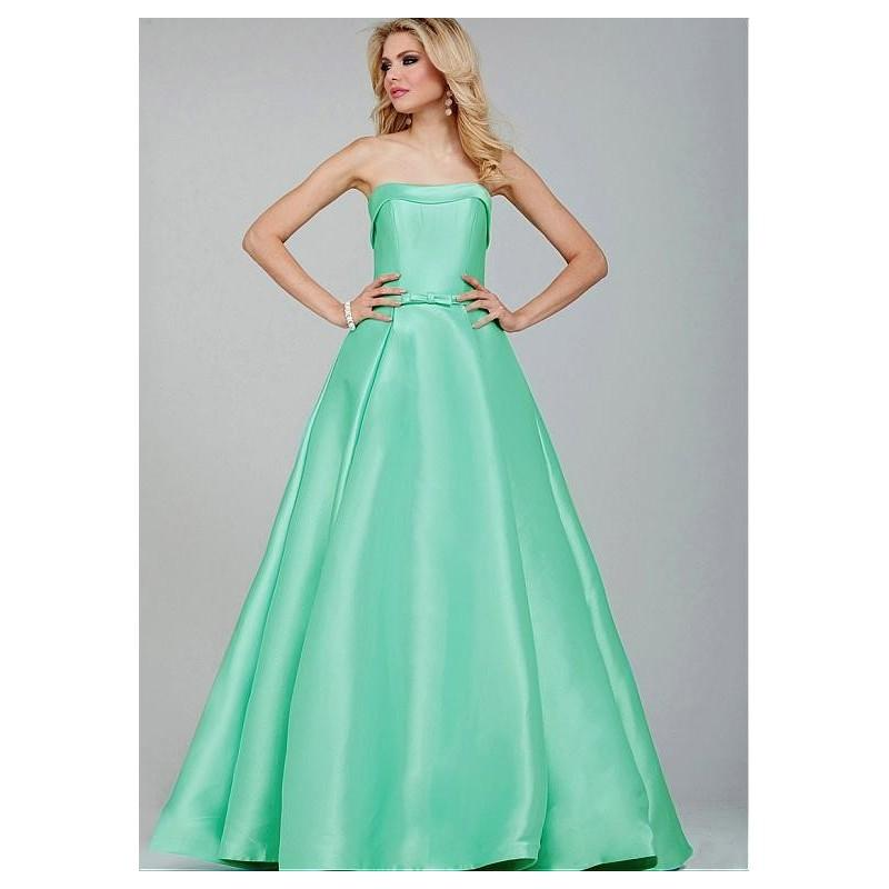Wedding - Elegant Satin Strapless Neckline A-line Prom Dresses with Bowknot - overpinks.com