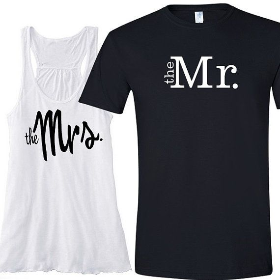 2882d78c The Mrs. And The Mr. Tank And T-Shirt Set #2668278 - Weddbook