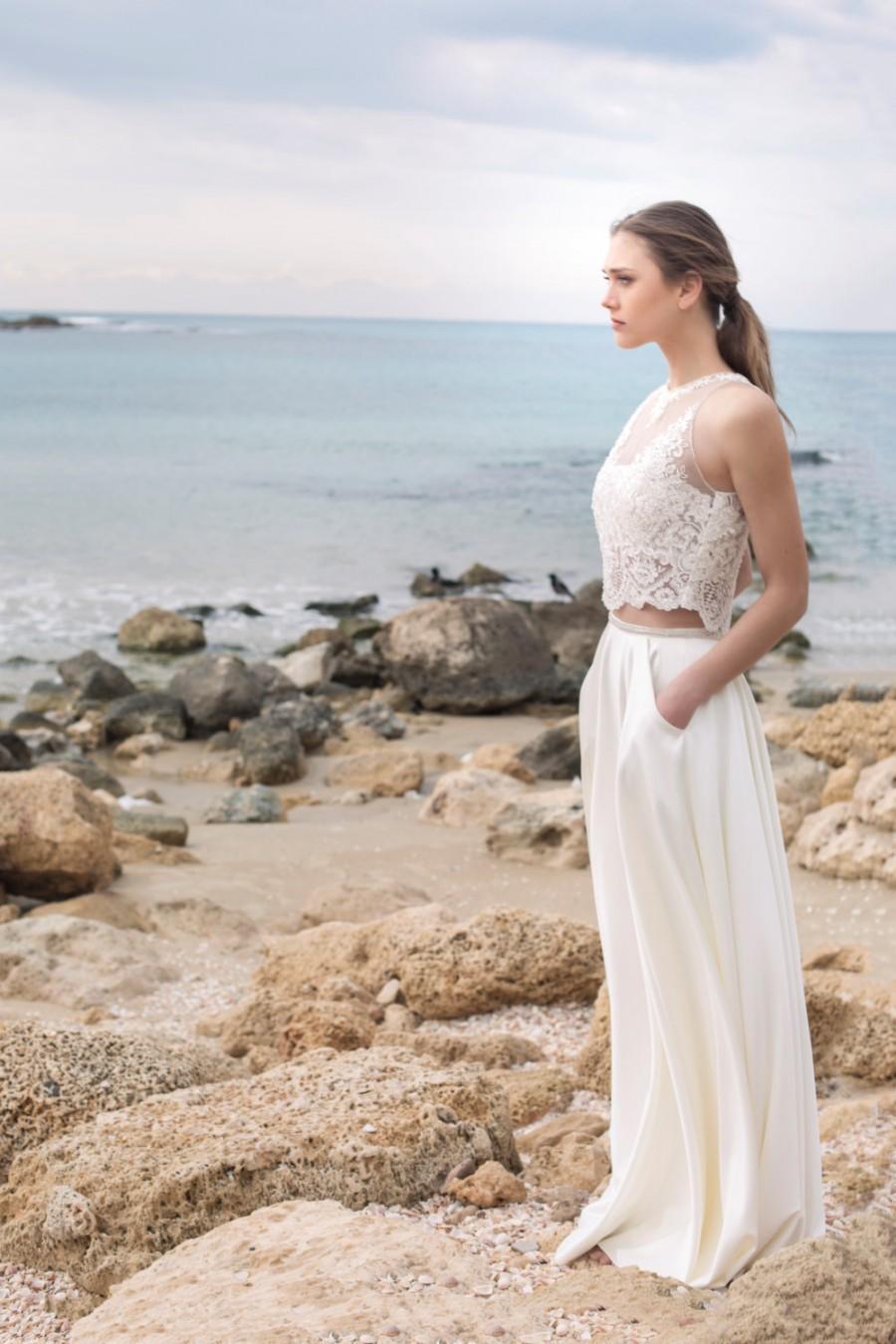 2a9a8c21a3e496 Elegant And 2 Piece Wedding Dress