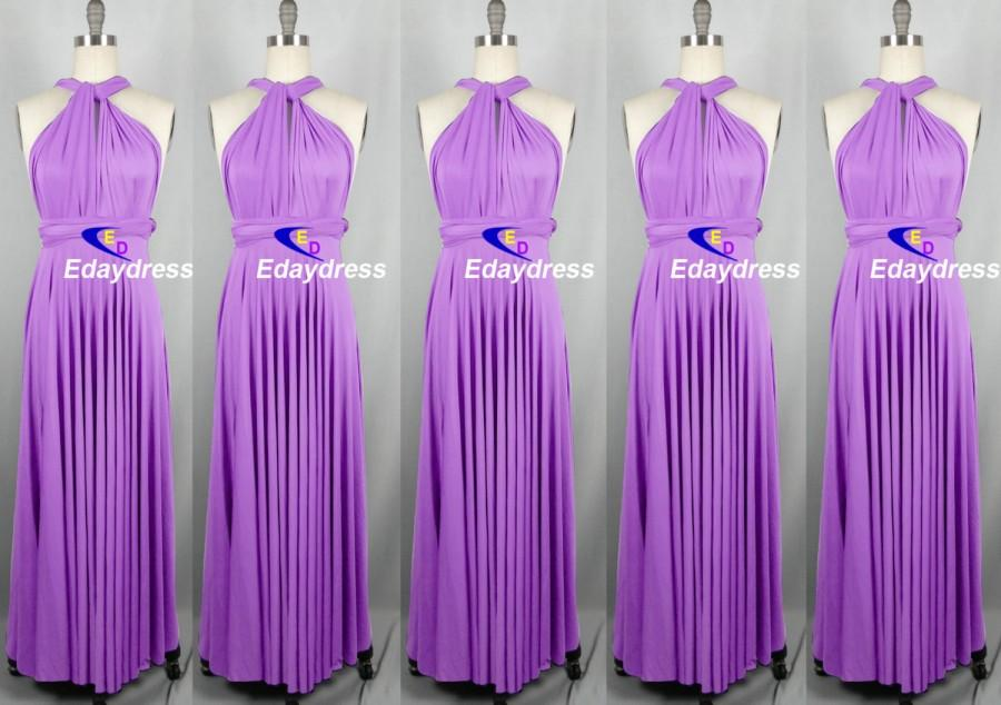 Свадьба - Lilac Floor Length Long Maxi Infinity Dress Convertible Formal Multiway Wrap Dress Bridesmaid Dress Party dress Evening Dress