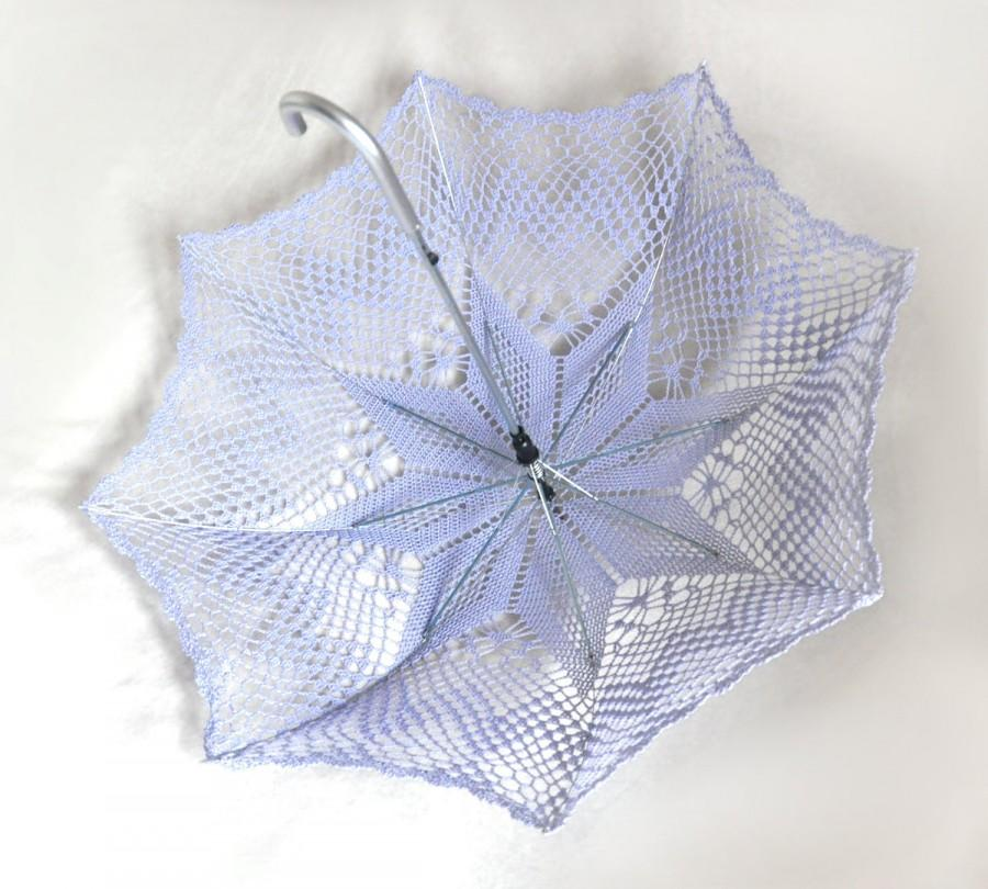 Wedding - Lavender Bridesmaid Wedding Umbrella- Victorian parasol- Victorian Umbrella- Bridal umbrella- Lace Umbrella- Lavender Umbrella- Wedding Prop