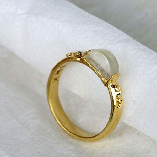 Wedding - Sapphire Engagement Ring, Solid Gold Ring, Avant Garde Gemstone Ring, FREE SHIPPING