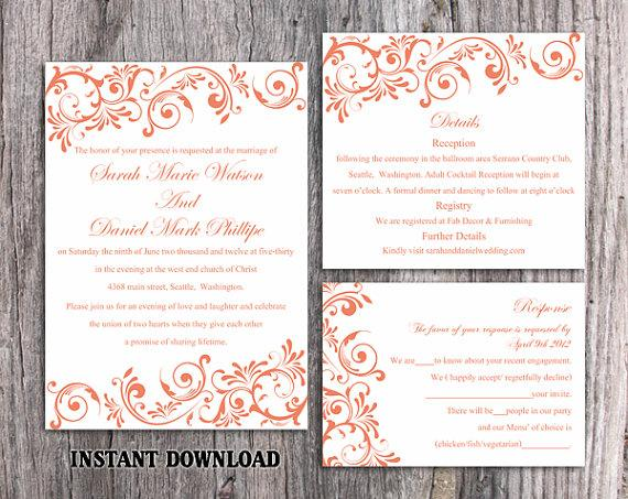 Wedding Invitation Template Download Printable Wedding Invitation - Wedding invitation templates: editable wedding invitation templates