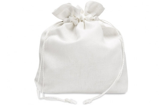 Mariage - White Linen Bag - Favor bag - Gift bag - Wedding Bag