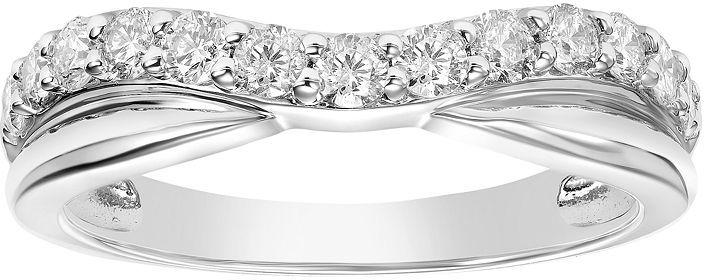 Simply Vera 14k White Gold 1 2 Carat T W Diamond Contour Wedding Ring