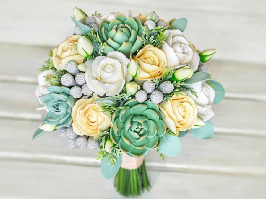 Wedding Bouquet Clay Flowers Alternative Bouquet Bridal Bouquet