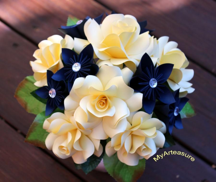 Mariage - Paper Flower Bouquet, origami bouquet.