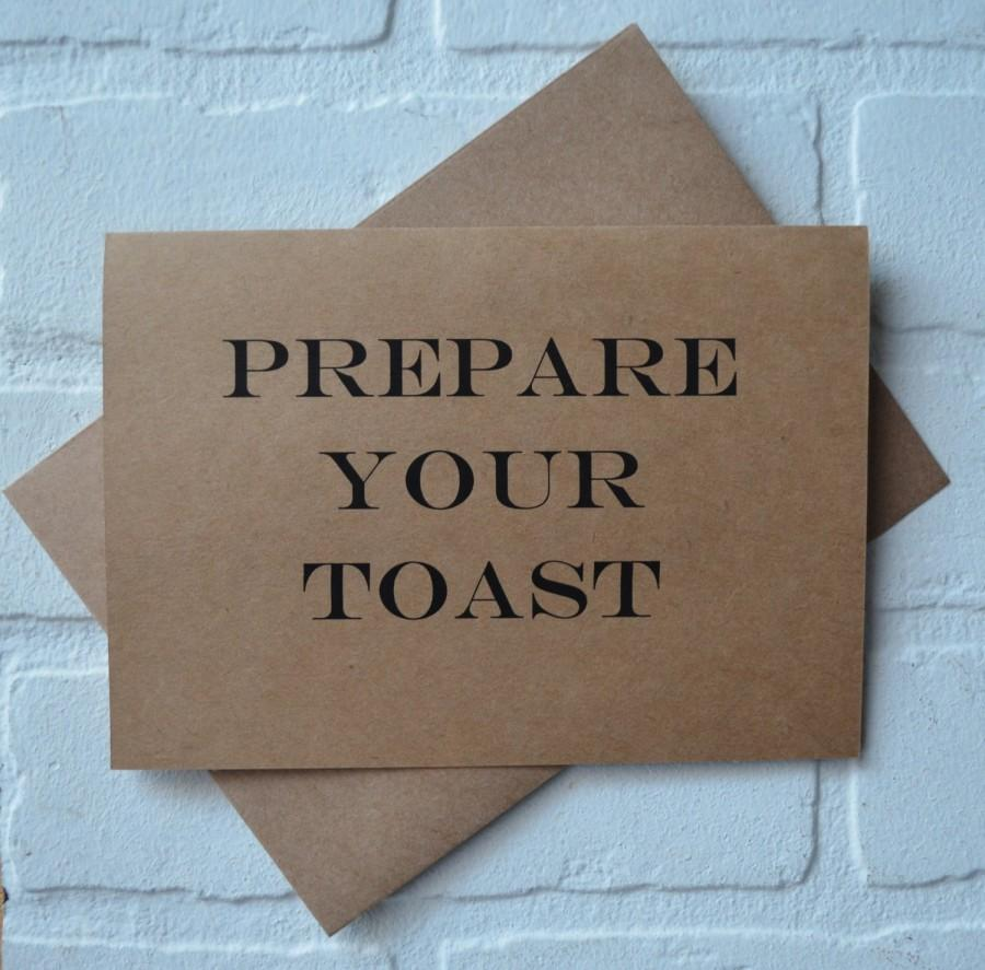 زفاف - PREPARE your toast will you be my BEST MAN card funny groomsman cards kraft wedding card wedding toast card will you be my groomsman cards