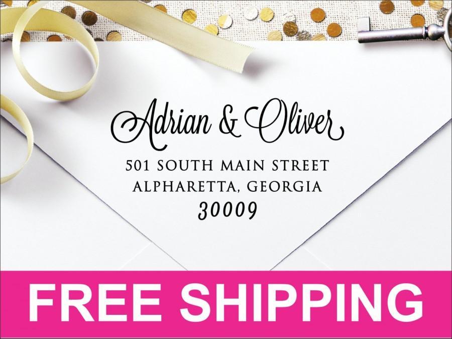 زفاف - Custom Personalized Self Inking Return Address Stamp LSWS2773 - Great Wedding, Newlywed, Housewarming, New Home, Realtor Gift!