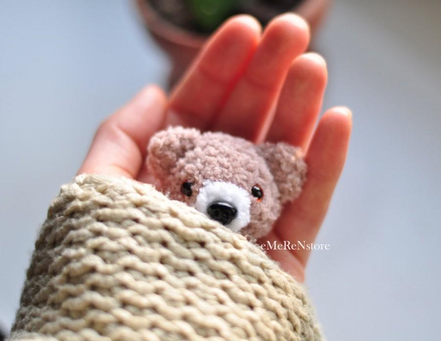 Hochzeit - Bear brooch Teddy bear jewelry Animal brooch Animal jewelry Gift for bestfriend Birthday gift Jewelry for teens for kids Brown jewelry