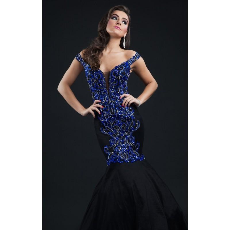 Свадьба - Black/Royal Off-The-Shoulder Gown by Rachel Allan Couture - Color Your Classy Wardrobe