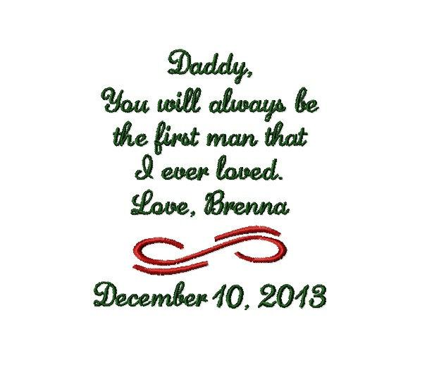 Mariage - FATHER Of The BRIDE Handkerchief Hanky Hankie - You Will Always Be The First Man I Ever Loved - FoB - Dad