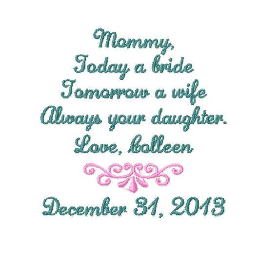 Свадьба - MOTHER Of The BRIDE Handkerchief - Mom - MoB - Wedding - Hanky - Hankie - Today A Bride, Always Your DAUGHTER