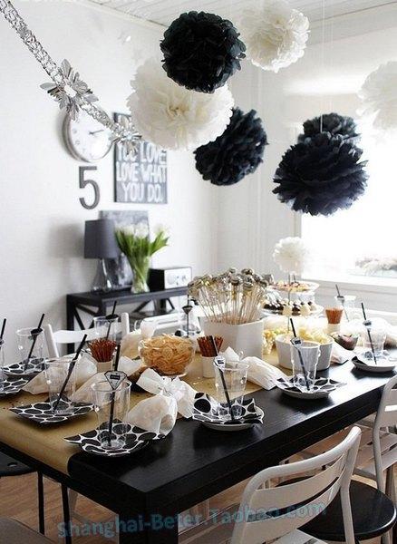 Wedding - Beter Gifts®  婚禮佈置14寸DIY薰衣草 #紙花球 Decor裝飾品BETER-ZH037紙球花顏色齊全