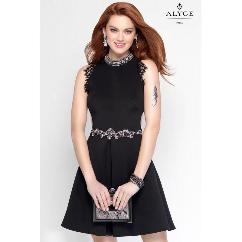 Hochzeit - Black Alyce Paris Homecoming 4456 Alyce Paris Shorts - Top Design Dress Online Shop