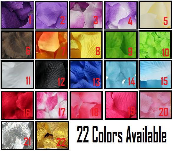 Wedding - 500 pcs Silk Rose Petals For Wedding Flower Bridal Decoration Girl's Baskets Party 22 Color To Choose