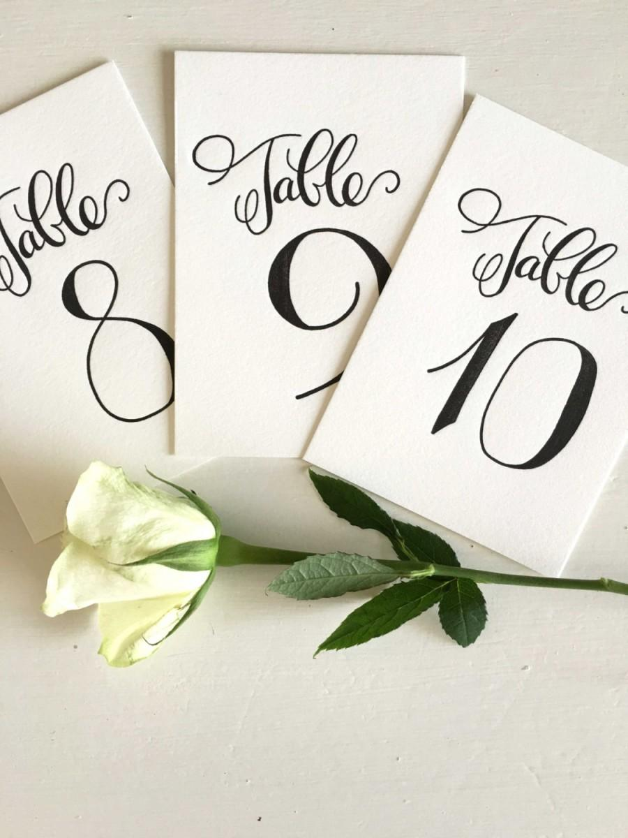 Свадьба - Calligraphy Table Numbers - Wedding Table Numbers - Wedding Table Markers - Elegant Table Numbers - Wedding Reception Decor - Wedding Decor