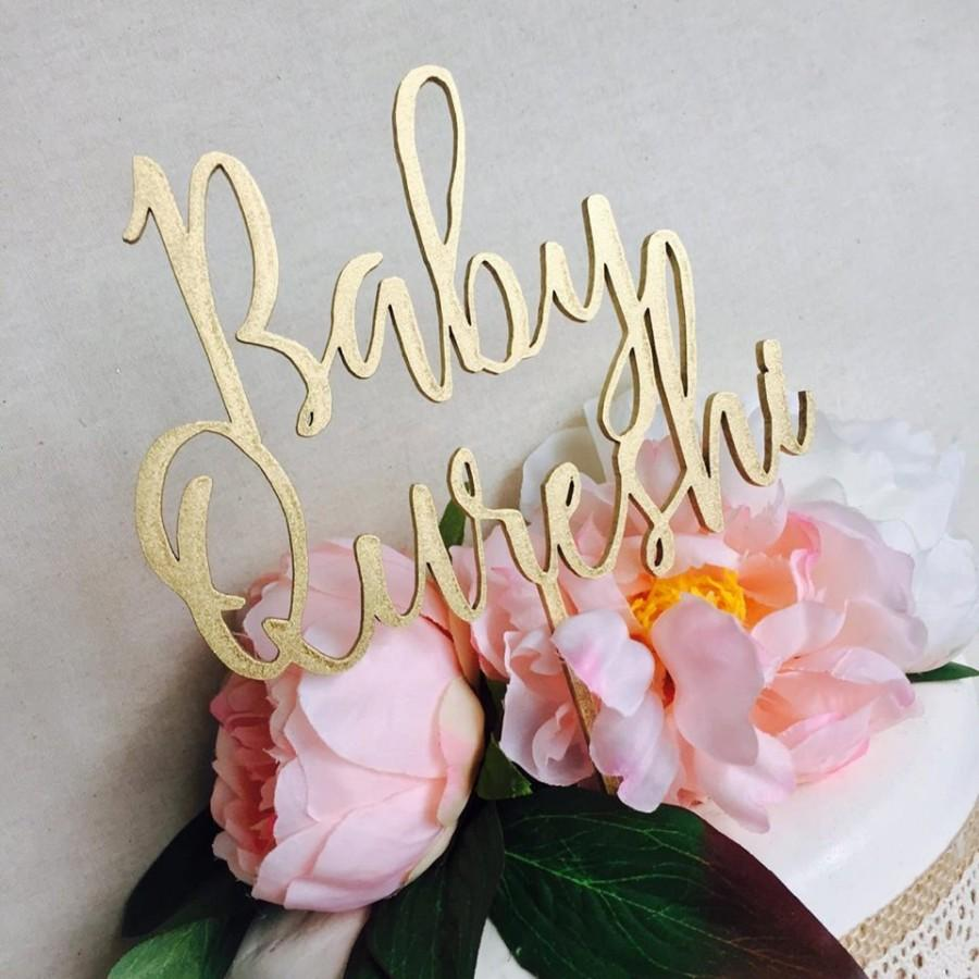 Свадьба - Baby Shower Personalised Cake Topper Cake Decoration Cake Toppers Toppers Baby Shower Cakes Personalised topper Baby shower cake SHL