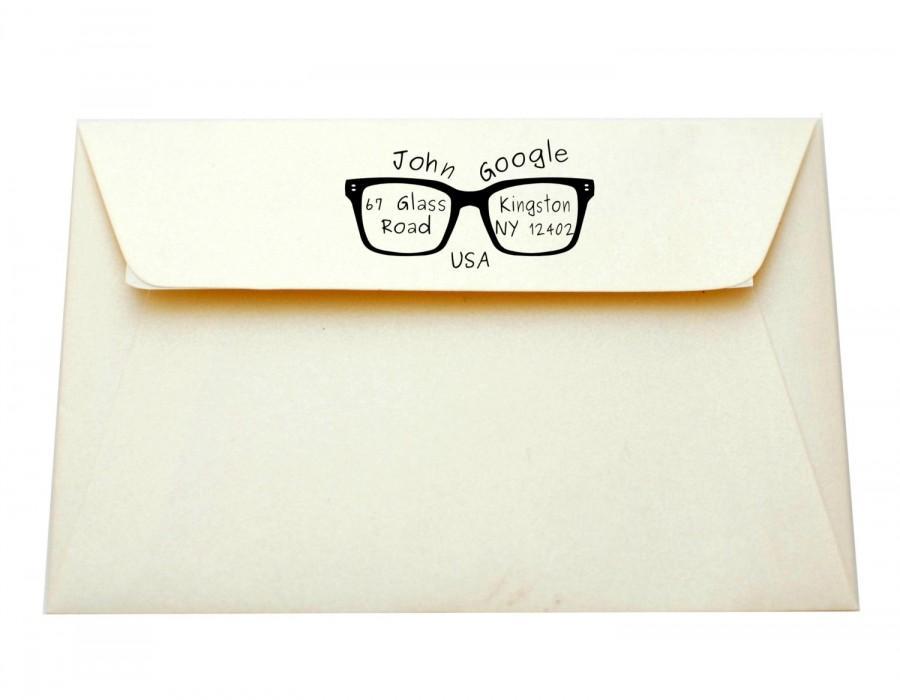 Mariage - Custom address stamp, Return address stamp, Wedding stamp, Personalized logo stamp, Teachers stamp, Funy gift, Glasses stamp, A16