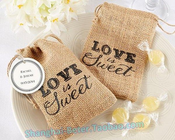 زفاف - Natural Burlap Favor Bag Wedding FavorBETER-TH046@beterwedding