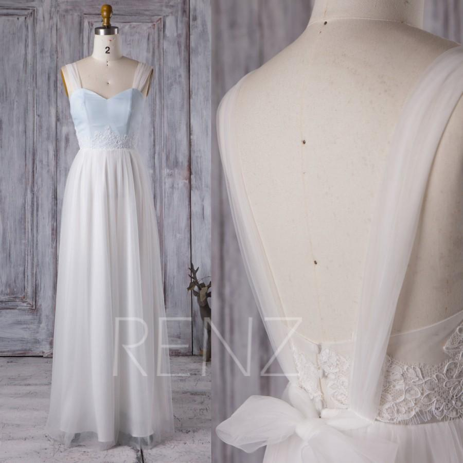Wedding - 2016 Off White Mesh Bridesmaid Dress, Sweetheart Chiffon Wedding Dress, A Line Prom Dress, Backless Evening Gown Floor Length (LS163)