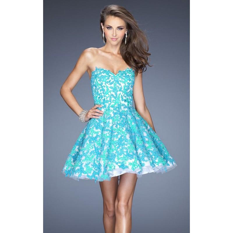 Hochzeit - Strapless Lace Dress by La Femme 20247 - Bonny Evening Dresses Online