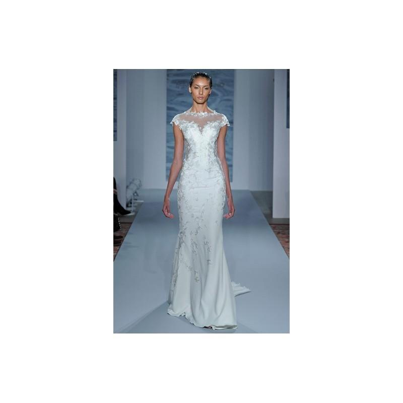 Mariage - Mark Zunino Fall 2015 Dress 6 - White Mark Zunino Full Length Fall 2015 Fit and Flare High-Neck - Nonmiss One Wedding Store
