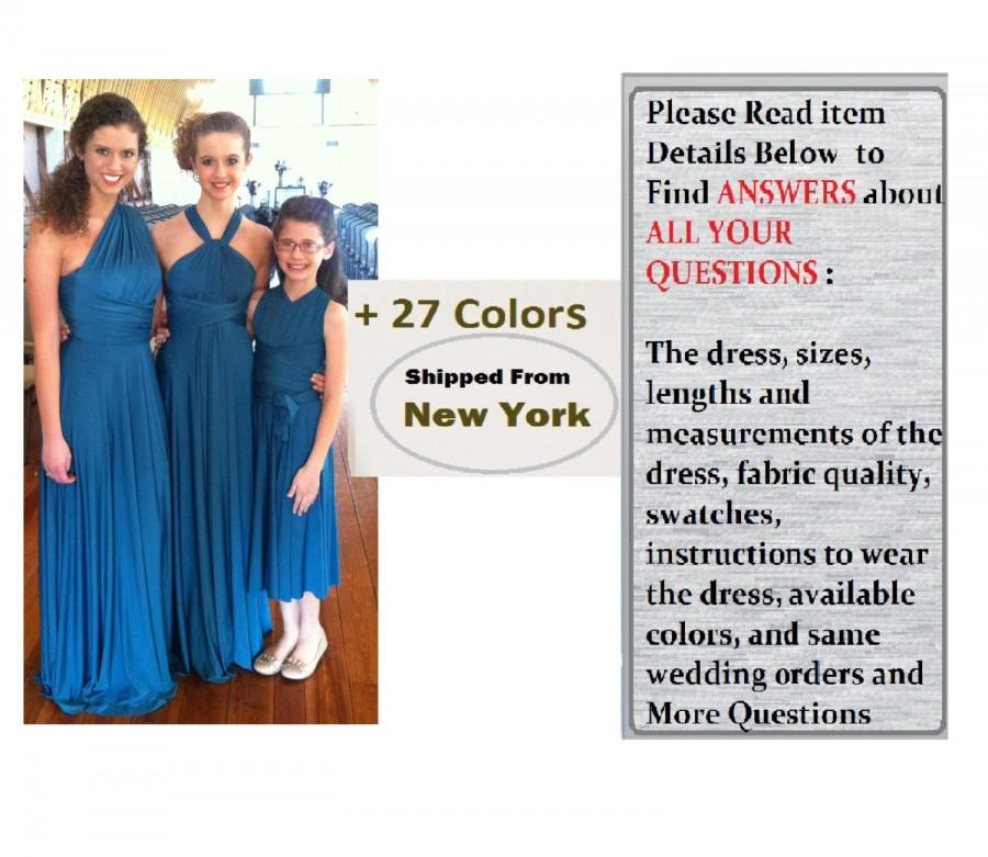 9ce36d436 Junior Bridesmaid Dress, flower girl dress, junior infinity dress, kids bridesmaid  dress, junior convertible dress. kids dress, jr infinity