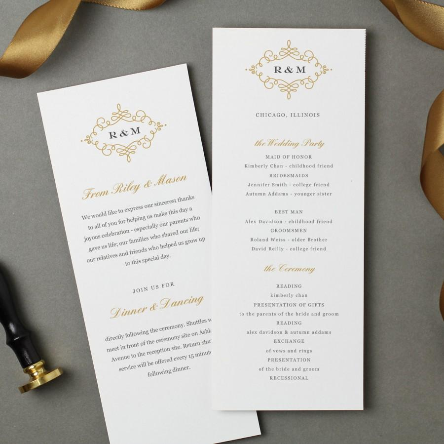 Mariage - Flat Wedding Program Template