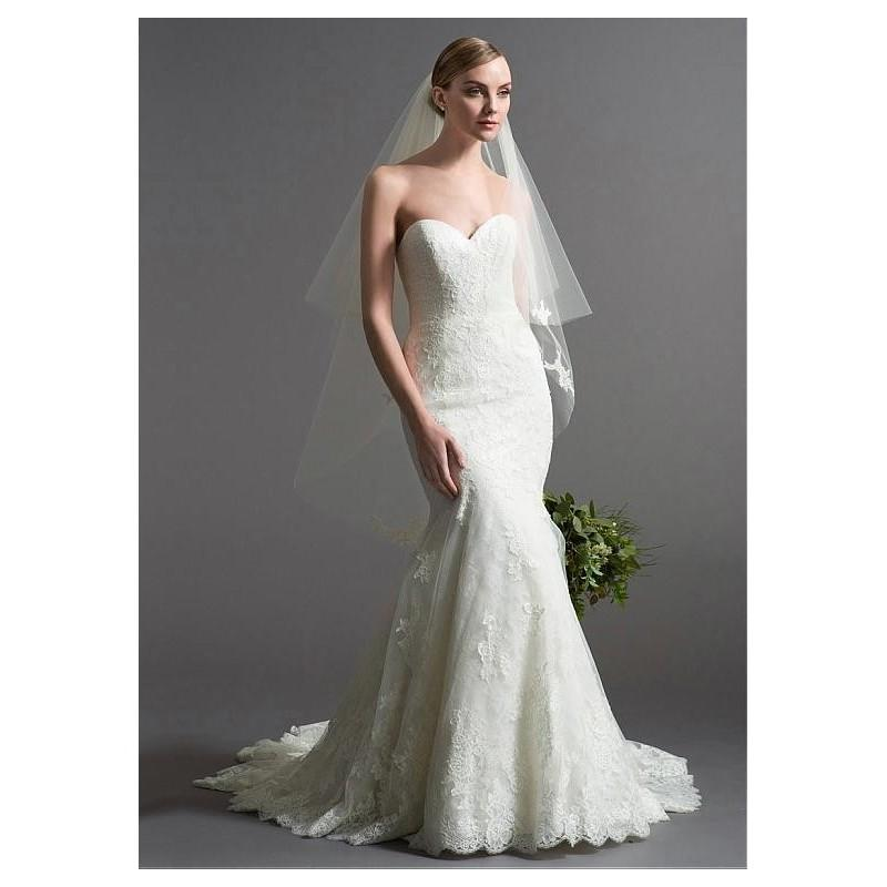 Wedding - Gorgeous Organza Sweetheart Neckline Natural Waistline Mermaid Wedding Dress With Lace Appliques - overpinks.com