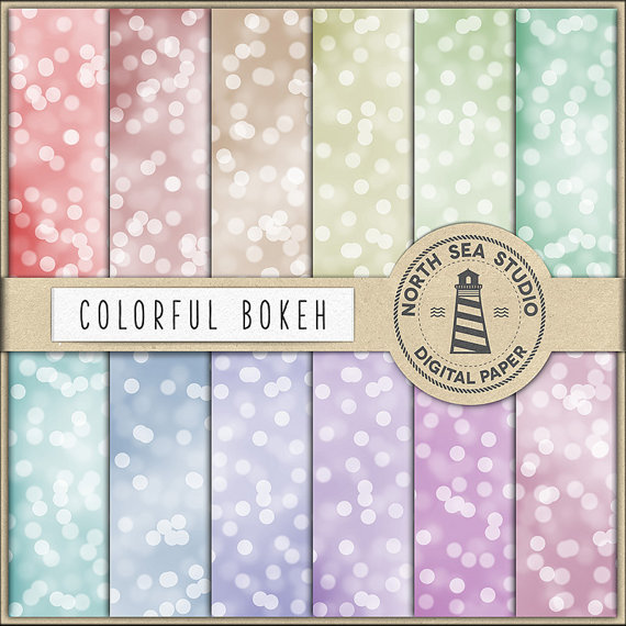 Mariage - Bokeh Digital Paper, Colorful Bokeh Paper, Sparkling Textures, Blurry Backgrounds, Bokeh Scrapbook Paper, Instant Download, BUY 5 FOR 8