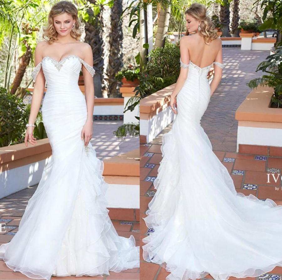 New arrival 2017 sexy sweetheart wedding dresses beaded for Custom mermaid wedding dress