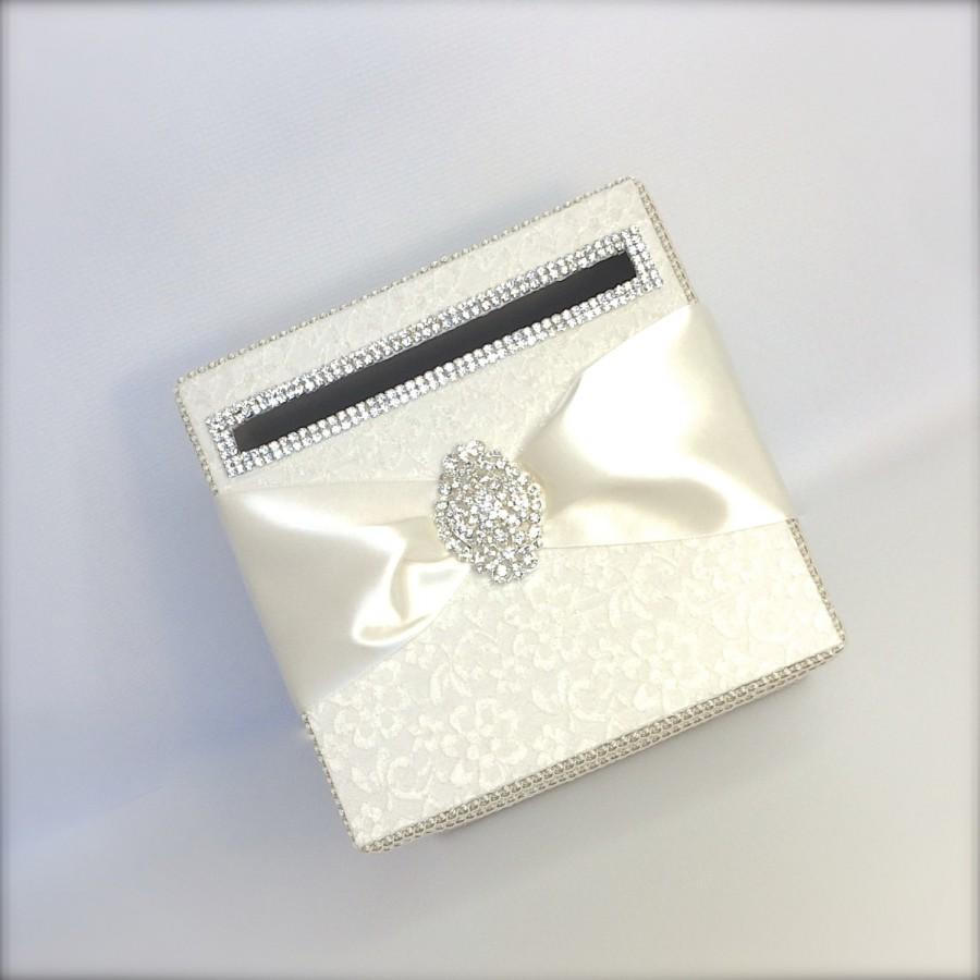 Mariage - Ivory Lace Wedding Card Holder, Wedding Money Box, Custom Card Box, Handmade, Gift Card Boxes,  Wedding Gift Box