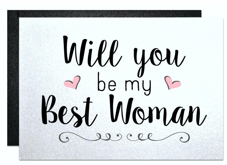 Mariage - Will you be my best woman, recycled wedding, rustic wedding, groomsman card from groom engagement ring bearer wedding party