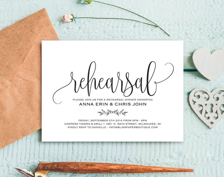 زفاف - Rehearsal Dinner Invitation, Rehearsal Dinner Invitation Template, Rehearsal Invitation, Wedding Rehearsal, PDF Instant Download