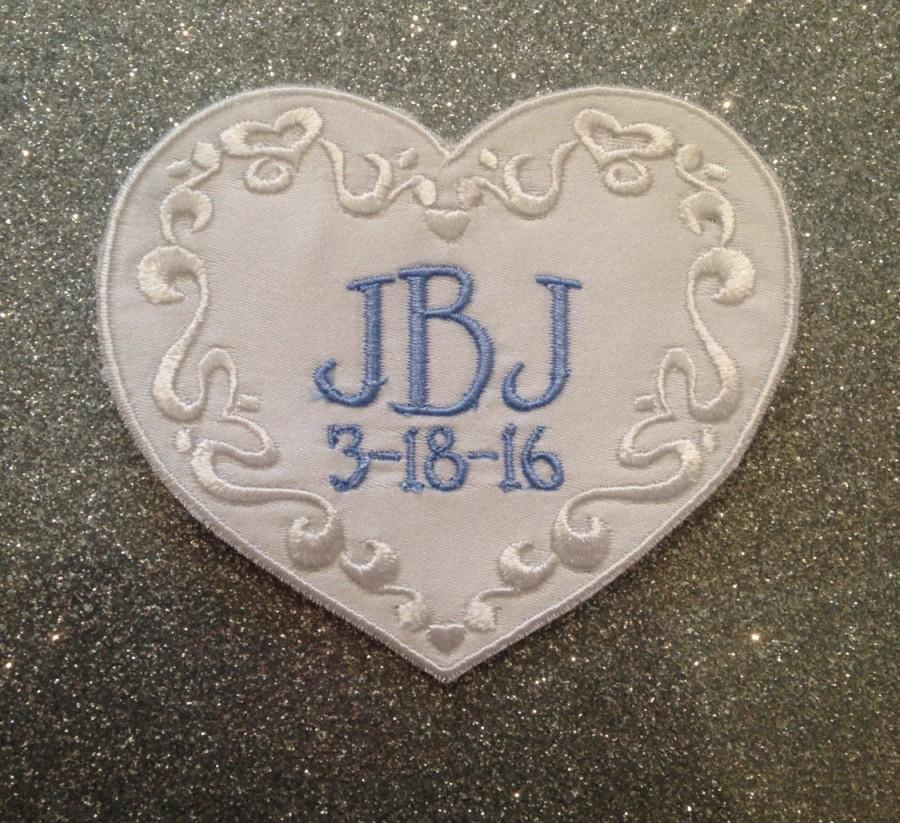 Mariage - Wedding Dress Patch, Monogrammed Wedding Patch, Patch for wedding dress