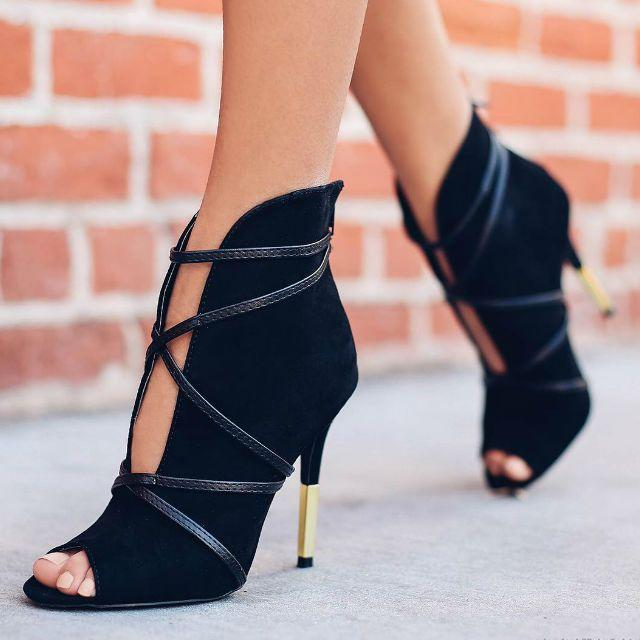 Mariage - Open Toe Cross Strap Heels