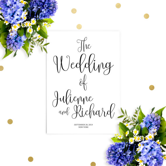 زفاف - Printable Wedding Program-Chic Calligraphy Wedding Ceremony Order-DIY Affordable Wedding Programs-Rustic Wedding Programs-Ceremony Program